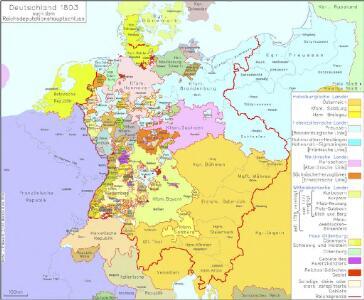 Deutschland 1803 nach dem Reichsdeputationshauptschluss