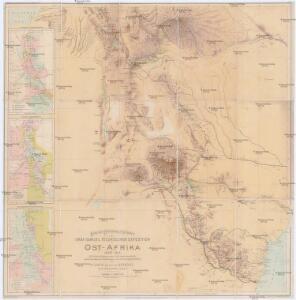 Karte des Forschungs-Gebietes der Graf Samuel Telekíschen Expedition in Ost-Afrika 1887-88
