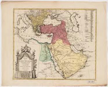Empire de la Porte ottomane en Europe, en Asie et en Afrique avec les pays qui lui sont tributaires