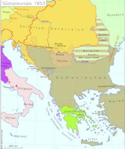 Südosteuropa 1853