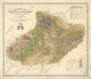 Höhenschichten-Karte von Mähren und ö. Schlesien