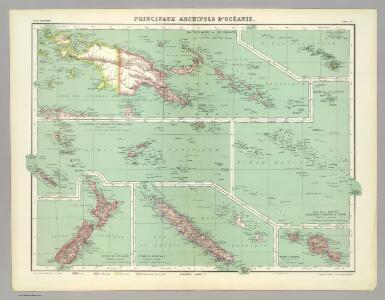 Principaux Archipels d'Oceanie.