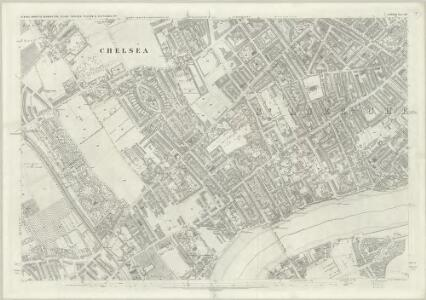 London (First Editions c1850s) LIII (includes: Battersea; Chelsea; Kensington) - 25 Inch Map