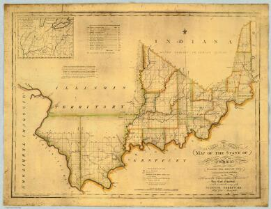 Shelton & Kensett's Map Of The State Of Indiana.
