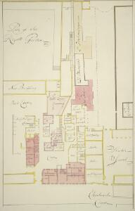 Plan of St. James's Palace, with the inteded addition in the reign of King William III