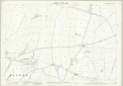 Gloucestershire LXXIII.7 (includes: Dodington; Dyrham and Hinton; Tormarton) - 25 Inch Map