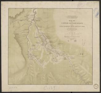 Map of the upper Geyser basin on the upper Madison river, Montana Terr.