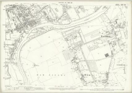 London (Edition of 1894-96) CXXII (includes: Ham; Petersham; Twickenham St Mary The Virgin) - 25 Inch Map