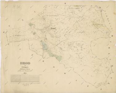 Katastrální mapa obce Brod