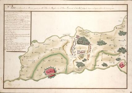 Plan de la Bataille de Bergen gagneé par Mr. Le Duc de Broglio Suv Le Prince Ferdinand Le 13. Avril 1759