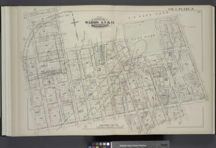 Vol. 5. Plate, D. [Map bound by Sands St., U.S. Navy Yard, Portland Ave., Myrtle Ave., Canton St., Bolivar St., Fleet Place, Pearl St., Concord St., Jay St.; Including High St., Nassau St., Flushing Ave., Chapel St., Park Ave., Tillary St., Sycamore St.,