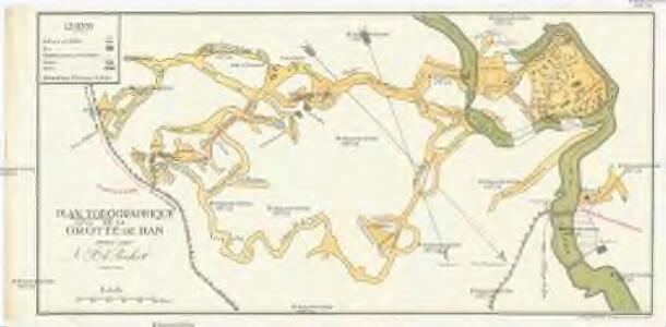 Plan topographique de la Grotte de Han