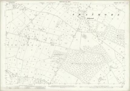 Hampshire and Isle of Wight LXVII.1 (includes: Bishops Waltham; Shedfield; Swanmore) - 25 Inch Map