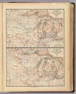 Climatology of Michigan ... isothermals January, July, summer, winter.