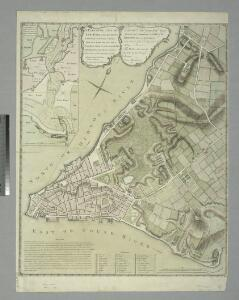 A plan of the city of New-York & its environs : to Greenwich, on the North or Hudsons River, and to Crown Point, on the East or Sound River, shewing the several streets, publick buildings, docks, fort & battery, with the true form & course of