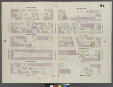 Plate 94: Map bounded by West 42nd Street, Sixth Avenue, West 37th Street, Eighth Avenue