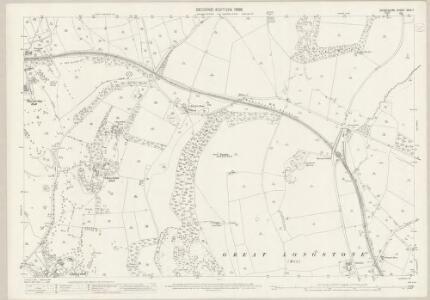 Derbyshire XXIII.7 (includes: Ashford; Bakewell; Great Longstone; Hassop; Little Longstone; Rowland) - 25 Inch Map