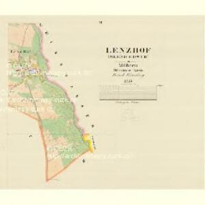 Lenzhof (Mlenicedwur) - m1835-1-004 - Kaiserpflichtexemplar der Landkarten des stabilen Katasters