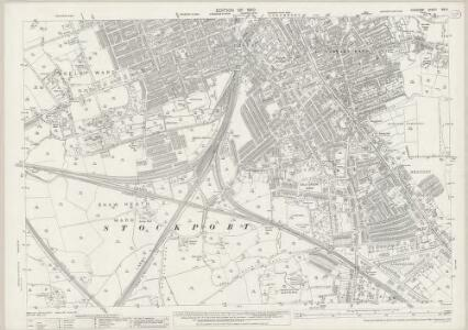 Cheshire XIX.3 (includes: Cheadle and Gatley; Stockport) - 25 Inch Map