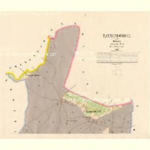 Tannendörfel - c2809-1-001 - Kaiserpflichtexemplar der Landkarten des stabilen Katasters