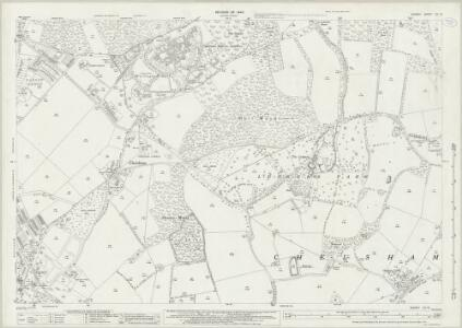 Surrey XX.12 (includes: Chelsham; Warlingham) - 25 Inch Map