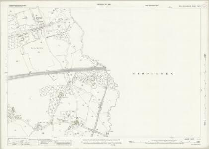 Buckinghamshire LVII.1 (includes: Iver; Uxbridge; Yiewsley and West Drayton) - 25 Inch Map