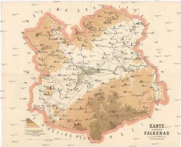 Karte des politischen Bezirkes Falkenau