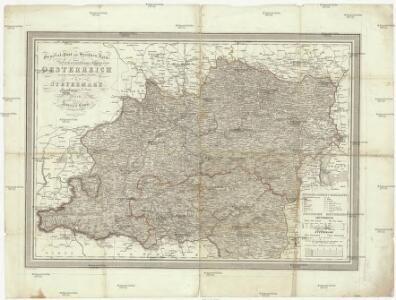 General-Post und Strassen-Karte des Erzherzogthums Oesterreich