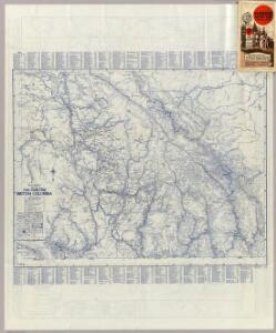 Rand McNally Official 1925 Auto Trails Map British Colombia.