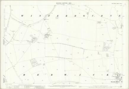 Wiltshire XXII.13 (includes: Berwick Bassett; Cherhill; Clyffe Pypard; Hilmarton; Winterbourne Bassett) - 25 Inch Map
