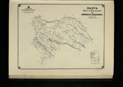 Harta Cailor de Comunicatie din Judetul Dorohoi
