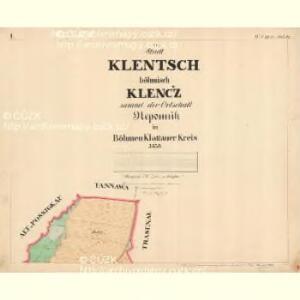 Klentsch - c3143-1-001 - Kaiserpflichtexemplar der Landkarten des stabilen Katasters