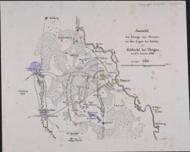 Anmarsch des Königs von Preussen aus dem Lager bei Schilda zur Schlacht bei Torgau den 3ten November 1760