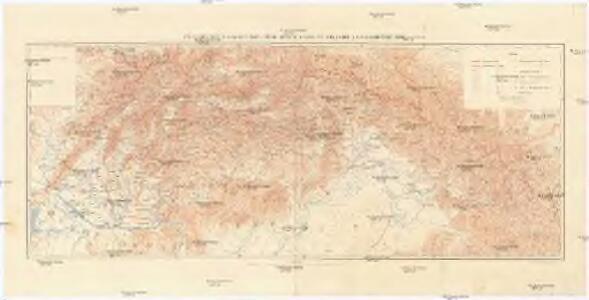 Přehledná hydrografická mapa povodí Dunaje a Visly na Slovensku a v Podkarpatské Rusi