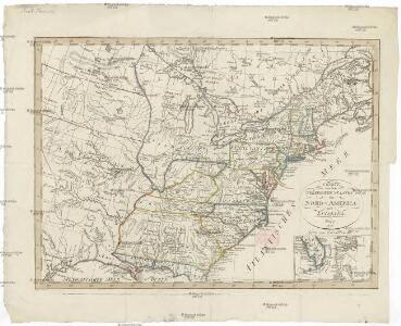 Charte von den Vereinigten Staaten von Nord-America mit Luisiana.