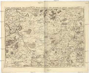 Carte particuliere des environs de Menin, Courtray, Ypre, Dixmunde, et Deynse