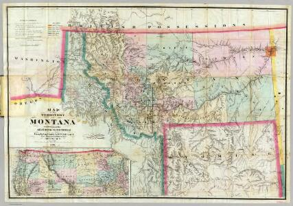 Map Of The Territory Of Montana.
