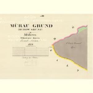 Mürau Grund (Murow Grünt) - m1817-1-004 - Kaiserpflichtexemplar der Landkarten des stabilen Katasters