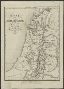 Kaart van het Heilige Land ten tijde van Josua en de Regteren