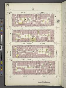 Manhattan, V. 2, Plate No. 13 [Map bounded by 6th St., Avenue C, 2nd St., Avenue B]