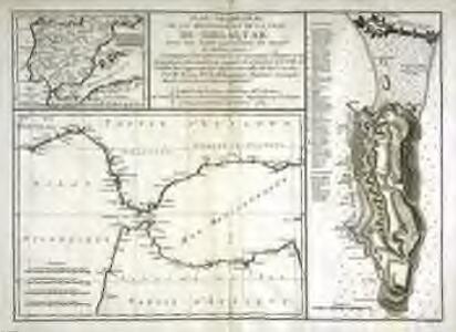 Plan géometral de la montagne et de la ville de Gibraltar