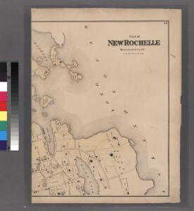 Plates 57 & 58: Part of New Rochelle, Westchester Co. N.Y.