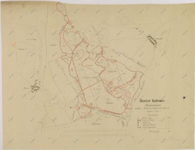 Porostní obrysová mapa polesí Kolence 1