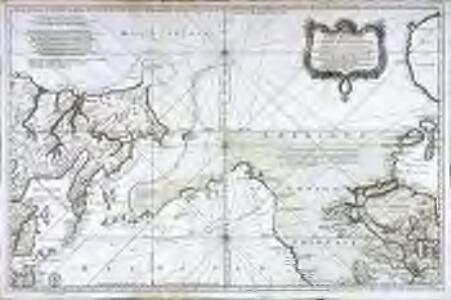 Carte réduite de l'ocean septentrional compris entre l'Asie et l'Amérique
