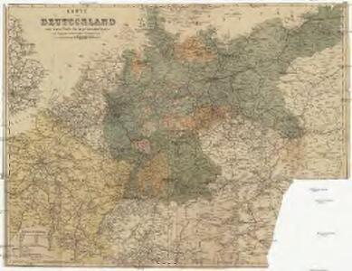 Karte von Deutschland und einem Theile der angrenzenden Länder mit Angabe sämmtlicher Eisenbahnen