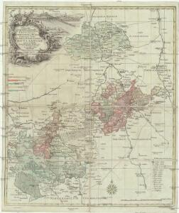 Delineatio geographica specialis territorii celsissimorum S. R. I. comitum Ruthenorum de Plauia utriusque linea senioris et iunioris partem Vogtlandiae