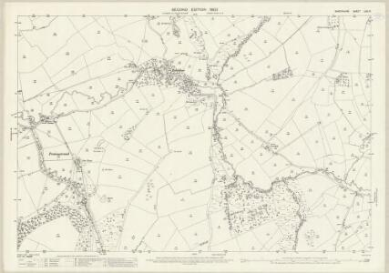 Shropshire LXV.13 (includes: Clee St Margaret; Cold Weston; Diddlebury; Heath) - 25 Inch Map