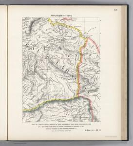 Facsimile:  Part of South America by Arrowsmith.