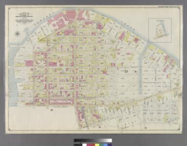 Double Page Plate No. 34: [Bounded by (New Town Creek) Commercial Street, Ash Street, Oakland Street, Paidge Avenue, Sutton Street, Meserole Avenue, Diamond Street, Calyer Street, Manhattan Avenue, Greenpoint Avenue, West Street and Bay Street.]