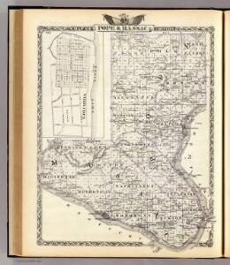 Map of Pope & Massac counties and Golconda.